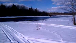 preview picture of video 'MXZX crossing river at Speculator'