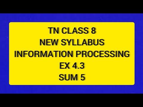 TN Samacheer 8 Maths New Syllabus Term 2 Information Processing Ex 4.3 Sum 5