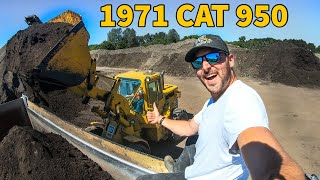 Komatsu loader is broke…time for the old CAT loader