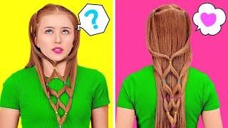 КАК ВЫГЛЯДЕТЬ ПОТРЯСАЮЩЕ В ЛЮБОЙ СИТУАЦИИ || Советы и лайфхаки для волос, которые стоит знать каждой