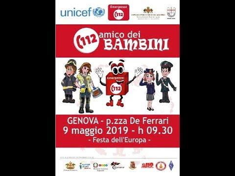 GIOVEDÌ 9 MAGGIO REGIONE E UNICEF IN PIAZZA PER L'INIZIATIVA 'NUE 112, NUMERO AMICO DEI BAMBINI'