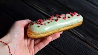 Эклеры с шоколадным кремом ☆ Рецепт сахарной глазури ☆ Chocolate eclairs