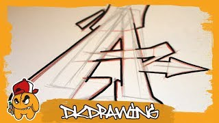 Graffiti Tutorial For Beginners - How To Draw & Flow Your Graffiti Letters - Letter A