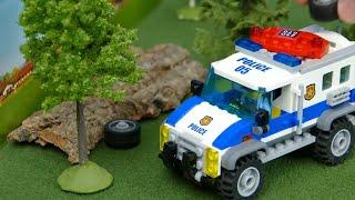 Lego Bulldozer, Concrete Mixer, Dump Truck, Mobile Crane, Tractor & Excavator Toy Vehicles for Kids