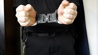 🚨 TCH850 Silver Premier Folding Rigid Handcuffs UK British Police (NIJ)