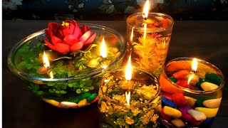 DIY Floating Candles For Diwali Decoration/ Diwali Decoration Ideas/ Water Candles