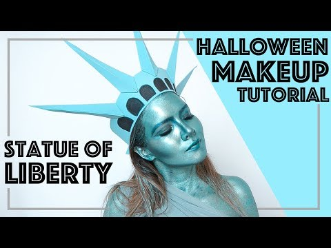 EASY HALLOWEEN MAKEUP TUTORIAL - STATUE OF LIBERTY - LAST MINUTE HALLOWEEN COSTUME