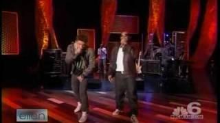 Jesse McCartney & Luda performing How Do You Sleep on Ellen
