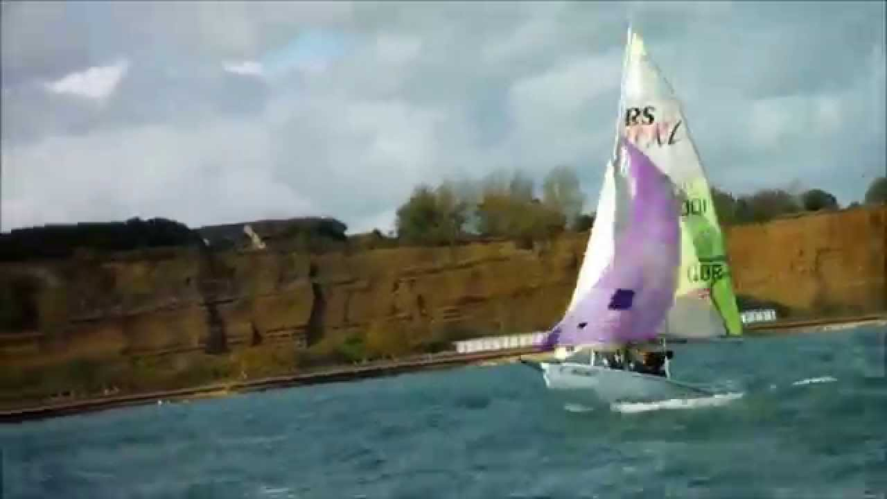 Purple spinnaker
