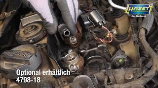 HAZET Universal Injektor-Demontage Werkzeug-Satz, mechanisch mit Bosch-Adapter 4798-5/25