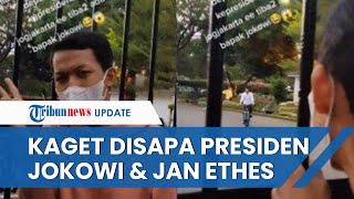 Pria di Yogyakarta Kaget Mendadak Disapa Presiden Jokowi dan Jan Ethes saat Sedang Asyik Bikin Vlog