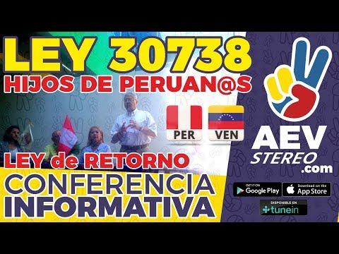 HIJOS DE PADRES PERUANOS NACIDOS EN EL EXTERIOR Y LEY DE RETORNO Convocatoria Informativa | AEV TV