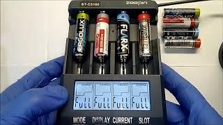 Тест емкости алкалиновых батареек
