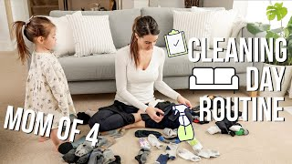 LONG CLEANING DAY ROUTINE 2019 with MUSIC STAY AT HOME MOM OF 4
