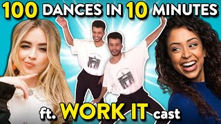 Sabrina Carpenter, Liza Koshy & The Cast Of Work It Try 100 Dances In 10 Minutes Challenge