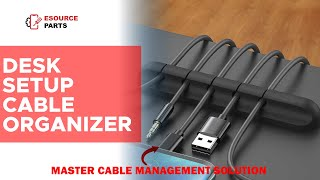 Desk Setup Cable Organizer: Effective solution for Cable Management