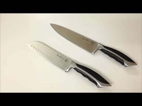 Rosmarino Profi Küchenmesser 20 cm und Santokumesser 18 cm
