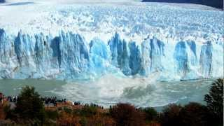 Glaciar Perito Moreno - Increíble caída bloque de hielo