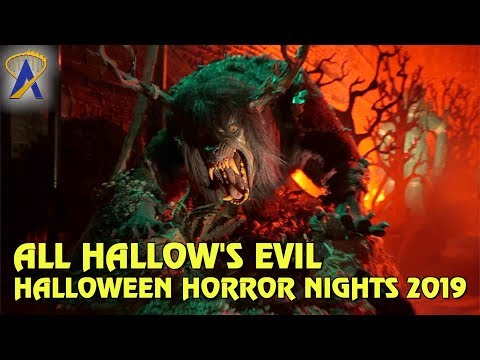 All Hallow's Evil Scare Zone at Universal Studios Hollywood's Halloween Horror Nights 2019
