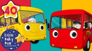 Wheels on The Bus | All Wheels on The Bus Songs + More Nursery Rhymes & Kids Songs | Little Baby Bum