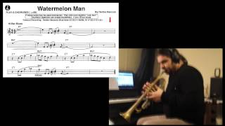 Trumpet tutorial [C key instr. transcription] - Watermelon Man -  Herbie Hancock