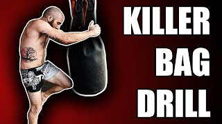 Intense Muay Thai Heavy Bag Drill and Workout Circuit by Sean Fagan