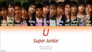 Super Junior (슈퍼주니어) – U (Color Coded Lyrics) [Han/Rom/Eng]