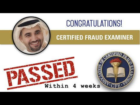 Pass the Certified Fraud Examiner (CFE) Exam within 4 Weeks ...