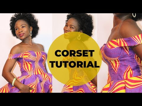 How To Cut And Sew A Corset Bra (Bustier) Dress