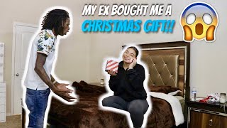MY EX BOUGHT ME A CHRISTMAS GIFT PRANK ON BOYFRIEND !!!! *HE GETS MAD*