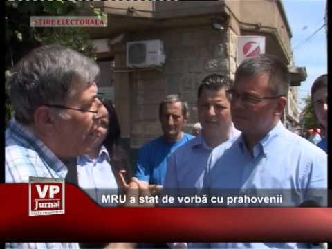 MRU a stat de vorbă cu prahovenii