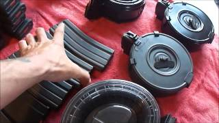 Loading And Showing Drum Magazines AR15SKS And AK47