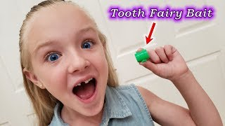 Tooth Fairy Caught On Camera! Trinity Loses Her Tooth!