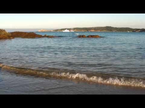 Cargèse, lever de soleil sur la plage du Pero le 24 août 2010