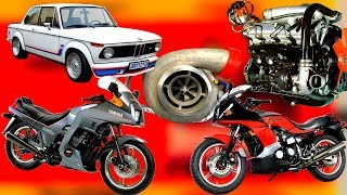 На какие серийные мотоциклы и авто, впервые стали ставить турбонагнетатели в 80х годах