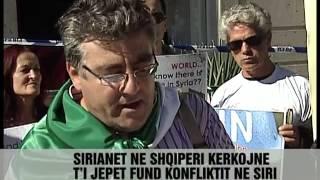 Tiranë, Proteste Kundër Assad - Vizion Plus - News - Lajme