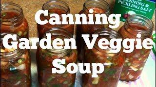 Canning Garden Veggie Soup
