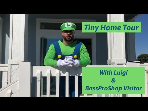 Tiny Home Tour with Luigi and Bass Pro Shop Visitor. Increase your property value with She Sheds