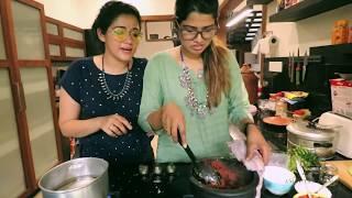 Kappa and fish curry experiment 😍 | AG Vlogs EPI 43 | Amritha Suresh | Abhirami Suresh |