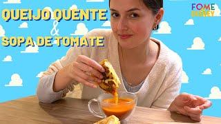Queijo quente com sopa de tomate do Woody's Lunchbox!