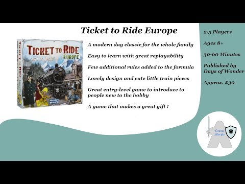 Ticket to Ride Europe - Review