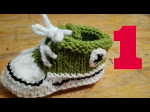 ZAPATILLAS BEBE TEJIDAS, DOS AGUJAS/HOW TO KNIT BABY SHOES (1)