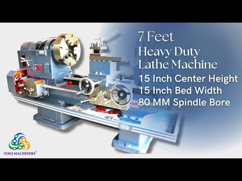 7 Feet Heavy Duty Lathe Machine in 15 Inch Center