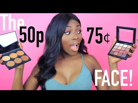 50p /75 Cent A DAY FACE- AFFORDABLE MAKEUP TUTORIAL