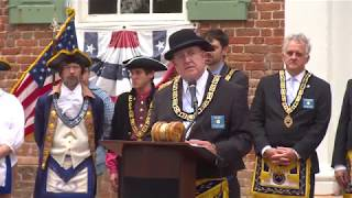N.C. Grand Master Of Masons Chowan County Courthouse Dedication