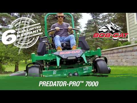 2019 Bob-Cat Mowers Predator-Pro 7000 61 in. Kawasaki 999 cc HG Wheel Motors in Mansfield, Pennsylvania - Video 1