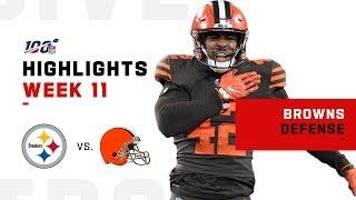Browns Defense Nets 4 INTs & 4 Sacks | NFL 2019 Highlights