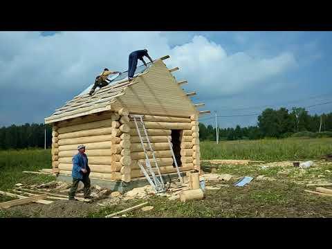 7 дней за 8 минут # Баня под ключ за восемь минут_Весь процесс_Так мы строим!