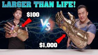 $100 INFINITY GAUNTLET vs. $1,000 LIFE-SIZE INFINITY GAUNTLET!!!  Marvel Legends VS. Hot Toys!