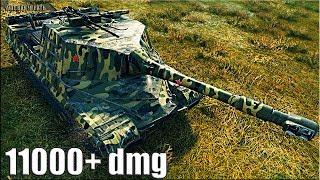 Объект 268 пт-сау бой 🌟 11000+ dmg 🌟 World of Tanks лучший бой на пт 10 уровня Об. 268